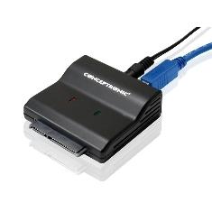 """CONCEPTRONIC ADAPTADOR USB 3.0 CONCEPTRONIC PARA DISCO DURO SATA 2.5""""/ 3.5"""" HDD"""
