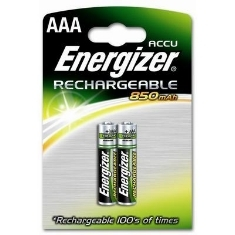 ENERGIZER BLISTER ENERGIZER DOS PILAS AAA RECARGABLES HR-03 850mAh CLASICA 1.2V