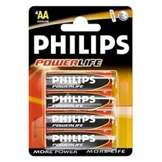 PHILIPS BLISTER PHILIPS CUATRO PILAS AA ALCALINAS LR6 POWERILIFE 1.5V