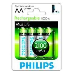 BLISTER-PHILIPS-CUATRO-PILAS-AA-RECARGABLE-R6NM-2100mAh-NiMH-MULTILIFE-1.2v_r6b4a210_10-0