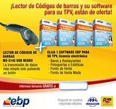 EBP SOFTWARE DE GESTION BUNDLE LECTOR CODIOGOS BARRAS MS5145 USB NEGRO + SOFTWARE TPV EBP