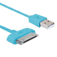 PHOENIX TECHNOLOGIES CABLE DE CARGA Y SINCRONIZACION PHOENIX PARA DISPOSITIVOS APPLE IPHONE IPAD 1.5M TURQUESA