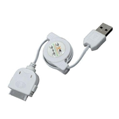 PHOENIX TECHNOLOGIES CABLE DE CARGA Y SINCRONIZACION PHOENIX RETRACTIL PARA DISPOSITIVOS APPLE IPHONE / IPAD / IPOD 1M  BLANCO