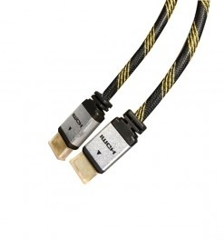 NEKLAN S.A.S CABLE HDMI 1.4 MACHO MACHO  CONEXION ORO 1.8M GRIS/NEGRO