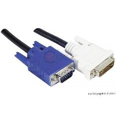 NEKLAN S.A.S CABLE MONITOR DVI SIMPLE A VGA MACHO MACHO 1.8M