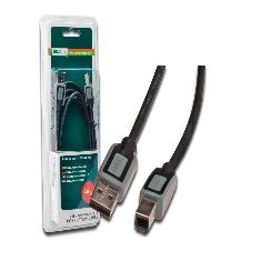 A DETERMINAR CABLE USB DIGITUS 2.0 A MACHO B MACHO 1.80M BLISTER NEGRO