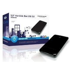"""CONCEPTRONIC CAJA EXTERNA CONCEPTRONIC HDD DE 3.5 """" PARA DISCO DURO SERIAL ATA USB 3.0 NEGRO"""