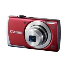 "CANON CAMARA DIGITAL CANON POWER SHOT A2500 ROJO 16MP ZO 5X 2.7"" VIDEO HD LITIO"