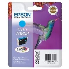 EPSON CARTUCHO TINTA EPSON T0802 CIAN 7.4ML STYLUS PHOTO R265/ 360/ RX560/ 585/ 685