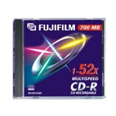 FUJIFILM CD VIRGEN CD-R 700MB FUJIFILM 52X JEWEL, Precio unidad