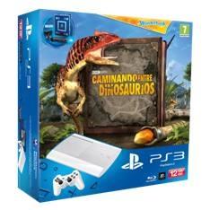 SONY ESPAÑA S.A CONSOLA PS3 12GB P BLANCA + CAMINANDO ENTRE DINOSAURIOS / CAM / MOVE / WB
