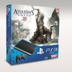 SONY ESPAÑA S.A CONSOLA SONY  PS3 SLIM 500GB NUEVA +  ASSASSIN`S CREED III