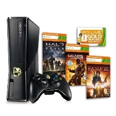 XBOX CONSOLA XBOX 360 PREMIUM 250 GB + FABLE III + HALO REACH + GEARS OF WAR 2  +3 MESES XBOX LIVE GOLD