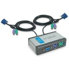 D-LINK DATA SWICH D-LINK KVM 2 PC MONITOR TECLADO RATON CON CALBES