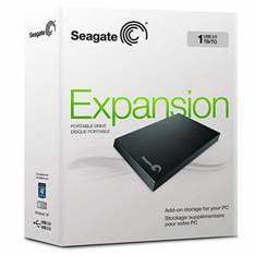 "SEAGATE DISCO DURO EXTERNO HDD SEAGATE 1TB STOR.E EXPANSION  2.5"" USB 3.0, NEGRO"