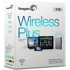 """SEAGATE DISCO DURO EXTERNO HDD SEAGATE 1TB WIRELESS PLUS ( INALAMBRICO)  2.5"""" USB 3.0, PLATEADO"""