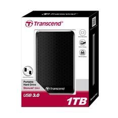 "TRANSCEND DISCO DURO EXTERNO HDD TRANSCEND STOREJET TS1TSJ25A3K 1TB/ 2.5""/  USB 3.0"