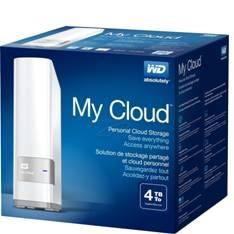 WESTERN DIGITAL WD DISCO DURO EXTERNO HDD WD NAS MY CLOUD 4TB , USB 3.0, RED BLANCO
