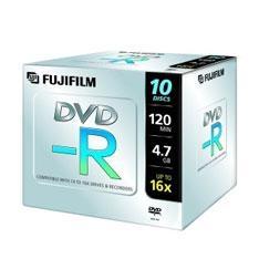 FUJIFILM DVD-R 4.7 GB  FUJIFILM 16X PRECIO POR UNIDAD CAJA JEWEL