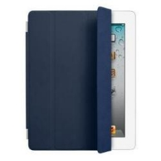 APPLE FUNDA DE PIEL SMART COVER AZUL MARINO SOLO IPAD V2 Y V3