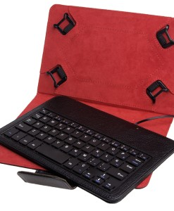 PHOENIX TECHNOLOGIES FUNDA UNIVERSAL + TECLADO CON CABLE PHOENIX PARA TABLET / EBOOK 7-8'' , NEGRA, MINI USB