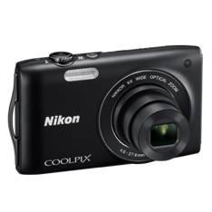 "NIKON KIT CAMARA DIGITAL NIKON COOLPIX S3200 NEGRO 16 MP ZO 6X HD LCD 2.7"" LITIO + 5 AÑOS DE GARANTIA"