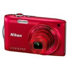 "NIKON KIT CAMARA DIGITAL NIKON COOLPIX S3300 ROJA 16 MP ZO 6X HD LCD 2.7"" LITIO + 4GB + ESTUCHE +  5 AÑOS DE GARANTIA"
