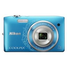 "NIKON KIT CAMARA DIGITAL NIKON COOLPIX S3500 AZUL 20.1 MP ZO 7X HD LCD 2.7"" LITIO + FUNDA"