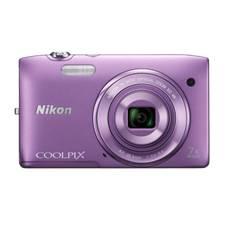"NIKON KIT CAMARA DIGITAL NIKON COOLPIX S3500 MORADA 20.1 MP ZO 7X HD LCD 2.7"" LITIO + FUNDA"