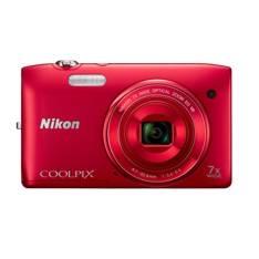 "NIKON KIT CAMARA DIGITAL NIKON COOLPIX S3500 ROJA 20.1 MP ZO 7X HD LCD 2.7"" LITIO + FUNDA"