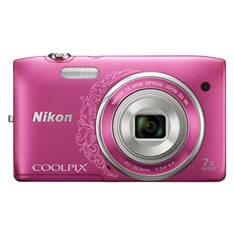 "NIKON KIT CAMARA DIGITAL NIKON COOLPIX S3500 ROSA 20.1 MP ZO 7X HD LCD 2.7"" LITIO + FUNDA"