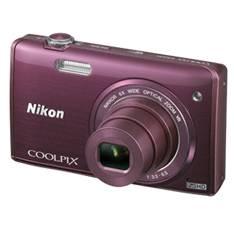 "NIKON KIT CAMARA DIGITAL NIKON COOLPIX S5200 PURPURA 16 MP LITIO ZO 6X  HD 3D LCD 3"" WIFI + ESTUCHE + 5 AÑOS DE GARANTIA"