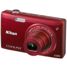 "NIKON KIT CAMARA DIGITAL NIKON COOLPIX S5200 ROJO 16 MP LITIO ZO 6X  HD 3D LCD 3"" WIFI + ESTUCHE + 5 AÑOS DE GARANTIA"