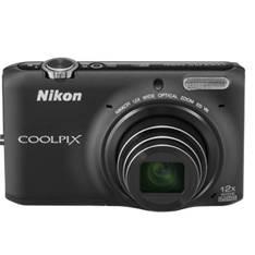 "NIKON KIT CAMARA DIGITAL NIKON COOLPIX S6500 NEGRO 16 MP LITIO ZO 12X  HD 3D LCD 3"" WIFI + ESTUCHE + 5 AÑOS DE GARANTIA"