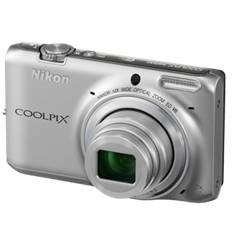 "NIKON KIT CAMARA DIGITAL NIKON COOLPIX S6500 PLATA 16 MP LITIO ZO 12X  HD 3D LCD 3"" WIFI + ESTUCHE + 5 AÑOS DE GARANTIA"