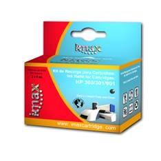 IMAX KIT DE RECARGA IMAX PARA HP 350/336/337/338 NEGRO ( 1 ESTACION DE RECARGA +3 REGARGAS NEGRO)