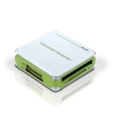 CONCEPTRONIC LECTOR TARJETAS MEMORIA CONCEPTRONIC USB EXTERNO VERDE + HUB
