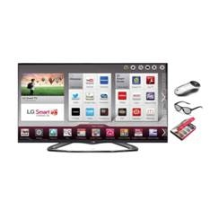 LG LED TV LG 47'' 47LA667S BLANCO 3D FULL HD SMART TV WIFI TDT 3 HDMI 3 USB VIDEO  4 GAFAS + 2 DUAL PLAY