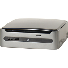 A DETERMINAR MINI BAREBON MULTIMEDIA AOPEN MP57 SLIM, NEGRO/PLATA, OPTICO, USB 2.0, AUDIO, eSATA, HDMI, DVI