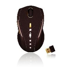 GIGABYTE MOUSE GIGABYTE LASER LUXURY CORDLESS USB 800-1600DPI PIEL ORO Y CRISTAL DE SWAROVSKI