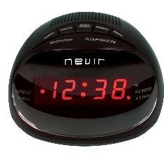 NEVIR RADIO RELOJ DESPERTADOR NEVIR NVR-333 NEGRO DIGITAL ALARMA DUAL