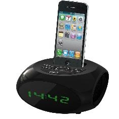 NEVIR RADIO RELOJ DESPERTADOR NEVIR NVR-350 NEGRO IPHONE IPOD USB