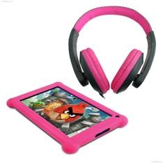 """POINT OF VIEW B.V. TABLET PC POINT OF VIEW MOBII 703 / LCD 7"""" CAPACITIVA / ANDROID 4.1 / 512MB DDR3 / 8GB / WIFI / CAMARA FRONTAL 0.3MP / + AURICULARES Y FUNDA DE PROTECCION ROSA"""