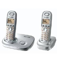 PANASONIC ESPAÑA, S.A. TELEFONO INALAMBRICO LCD PANASONIC KX-TG7302SPS, PLATA, DUO