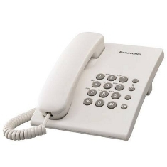 PANASONIC ESPAÑA, S.A. TELEFONO SOBREMESA PANASONIC KX-TS500EXW, BLANCO BASICO